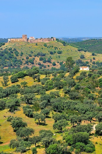 Noudar castle.Alentejo.Portugal : Stock Photo
