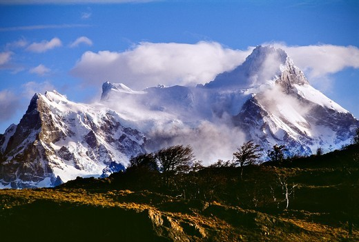 Torres del Paine National Park  UNESCO World Biosphere Reserve, Patagonia, Chile, South America. : Stock Photo