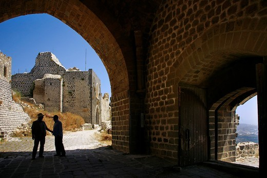 Stock Photo: 1566-603549 Syria, Marqab- the ´Margat´ castle of the crusaders: entrance gate