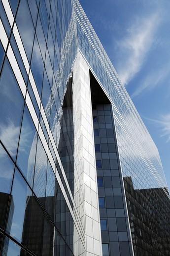 Building of the business sector Paris La Défense, Paris, France. : Stock Photo