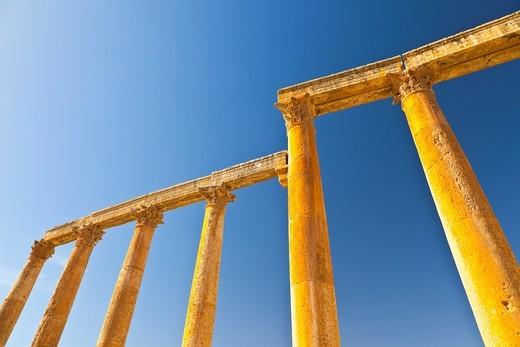 Stock Photo: 1566-604249 Via Cardo, Greco-Roman city of Jerash, Jordan, Middle East