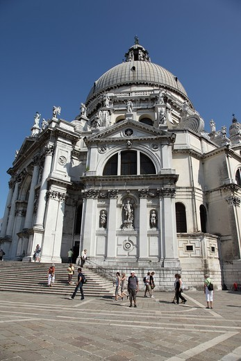 Church of Santa Maria della Salute in Venice, Veneto, Italy : Stock Photo