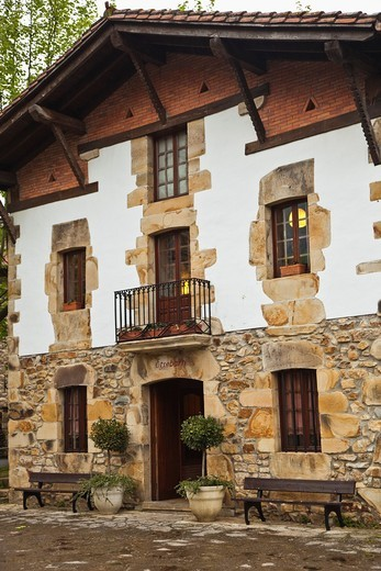 Stock Photo: 1566-605059 Etxebarri Restaurant Victor Arginzoniz Chef Atxondo Atxondo Valley. Biscay, Basque Country, Spain