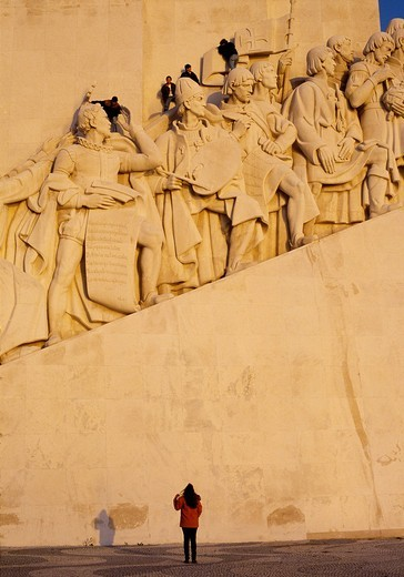 Stock Photo: 1566-605109 Monument to the Discoveries, Padrao dos Descobrimentos, Belem, Lisbon, Portugal.