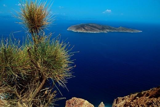 Stock Photo: 1566-605491 Island Psira, Gulf of Mirambello, Crete, Greece.