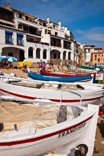 Port Bo beach  Calella de Palafrugell, Palafrugell, Baix Empordá, Costa Brava, Girona Province, Catalonia, Spain : Stock Photo
