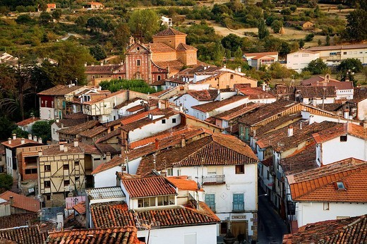 Hervas. Silver Route, Caceres province, Extremadura, Spain : Stock Photo