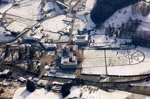 Snow, Sanctuary of Loiola, Azpeitia. Guipuzcoa, Basque Country, Spain : Stock Photo
