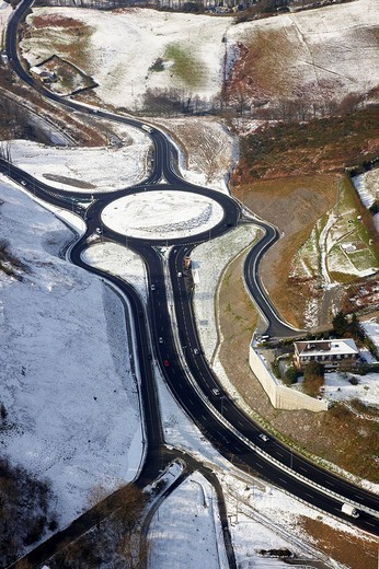 Stock Photo: 1566-607253 N1 highway roundabout at Gaintxurizketa, Irun. Guipuzcoa, Basque Country, Spain