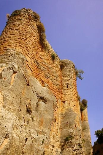 Syria-´Qaállat Salah el Din´ Chateau de Saone : Stock Photo