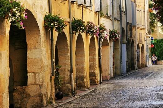 Stock Photo: 1566-607453 France. Provence. Tarascon. Rue des Halles.