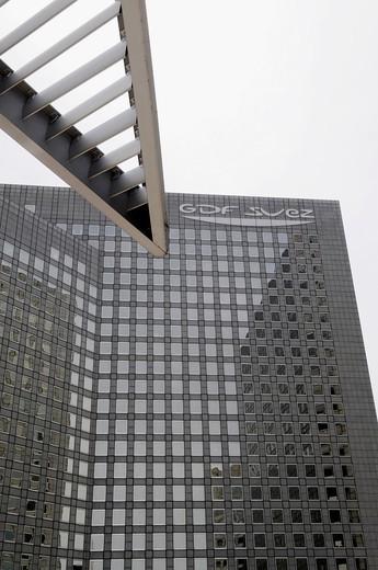 Stock Photo: 1566-607638 The towers GDF Suez, buildings of the business sector Paris La Défense, Paris, France.