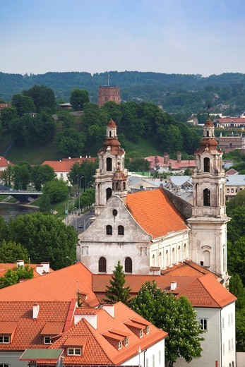 Stock Photo: 1566-609550 Lithuania, Vilnius, elevated view of St  Raphael´s Church
