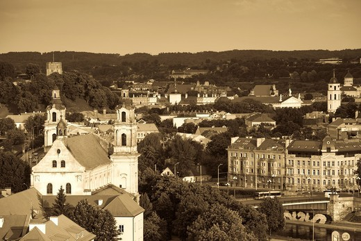 Lithuania, Vilnius, elevated view of St  Raphael´s Church, daytime : Stock Photo