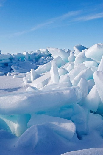 Ice floe, Magdalen Islands, Quebec, Canada : Stock Photo