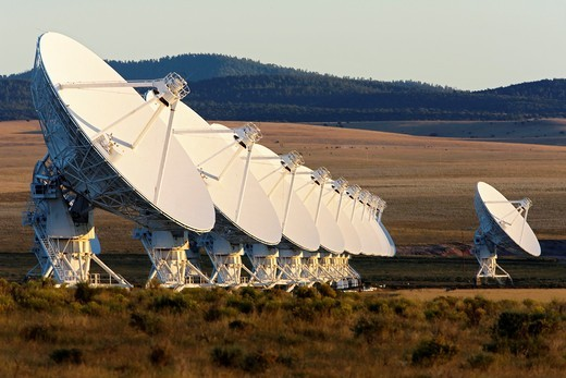 Very Large array  VLA. Radio telescopes near Socorro, New Mexico. : Stock Photo