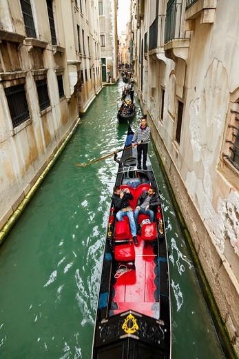 Gondolas, Venice, Veneto, Italy : Stock Photo