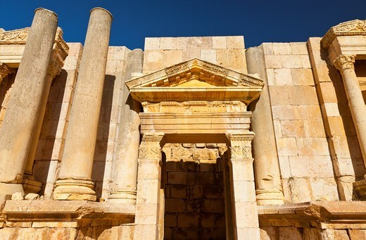 Stock Photo: 1566-611910 Greco-Roman city of Jerash, South Theatre, Jordan, Middle East