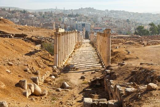 Greco-Roman city of Jerash, Jordan, Middle East : Stock Photo