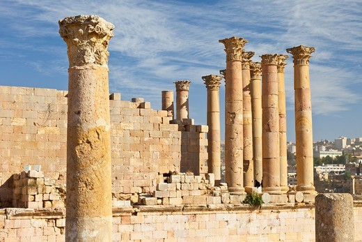 Stock Photo: 1566-611927 Temple of Artemisa or Diana, Greco-Roman city of Jerash, Jordan, Middle East