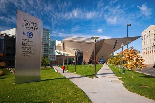 Stock Photo: 1566-613146 USA, Colorado, Denver, Denver Art Museum, Hamilton Building by Daniel Libeskind