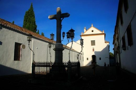 Square of the Cristo de los Faroles, Cordoba, Andalusia, Spain : Stock Photo