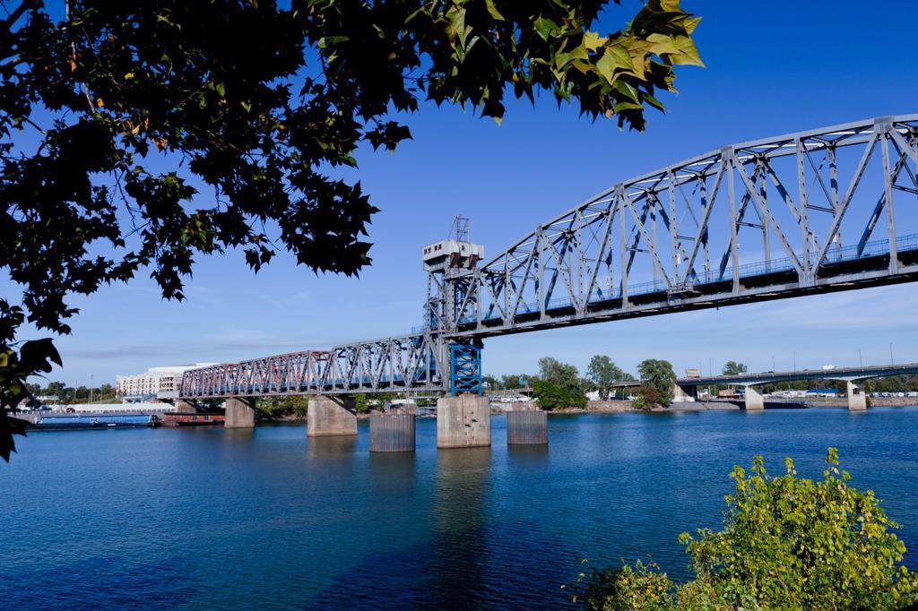 Stock Photo: 1566-614510 A bridge over the Arkansas river in Little Rock, Arkansas, USA