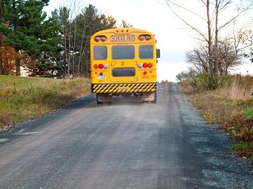 Stock Photo: 1566-614522 rural schoolbus