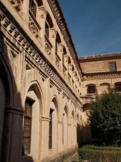 Stock Photo: 1566-614907 Claustro. Convento de San Antonio de Padua. Segovia. Castilla y León. España.