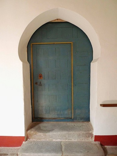 Puerta Mudéjar. Convento de San Antonio de Padua. Segovia. Castilla y León. España. : Stock Photo