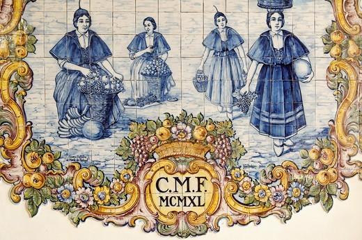Stock Photo: 1566-615704 Azulejo, Funchal market, Funchal, Madeira Island, Portugal