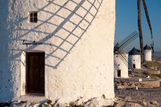 Windmills of consuegra, province of Toledo, castile la mancha, spain : Stock Photo