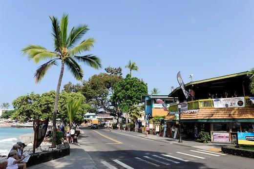 Stock Photo: 1566-616368 Shopping Area Kona Kailua Hawaii Pacific Ocean