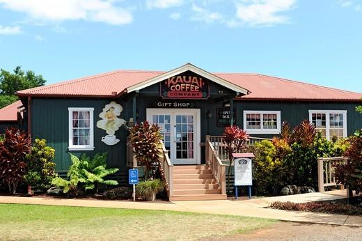 Kauai Coffee Plantation Visitor Center Eleele Hawaii : Stock Photo