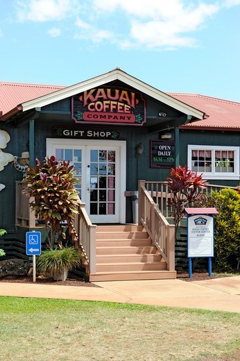 Stock Photo: 1566-616396 Kauai Coffee Plantation Visitor Center Eleele Hawaii