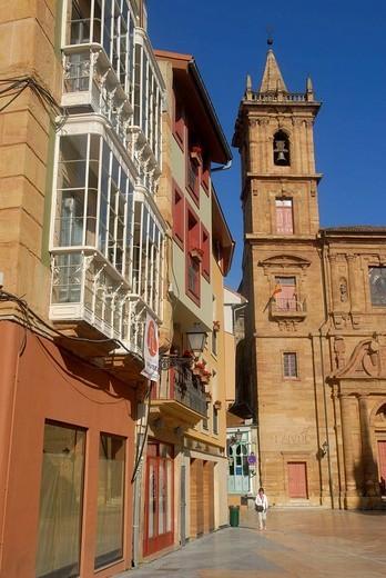Stock Photo: 1566-616909 Church of San Isidoro el Real, Oviedo. Asturias, Spain