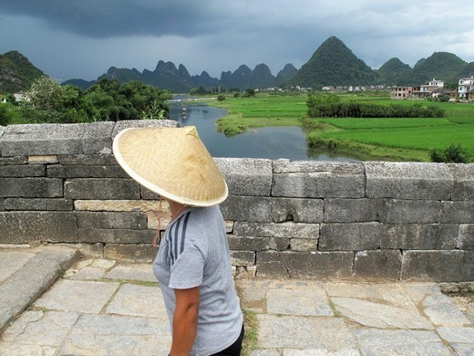 Yangshuo town near Guilin, Guangxi Province, China : Stock Photo
