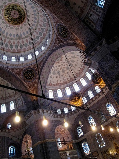Stock Photo: 1566-617693 Interior of the Yeni Mosque. Istanbul. Turkey