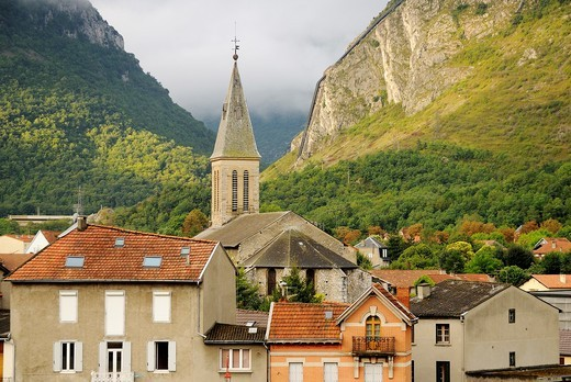Stock Photo: 1566-617812 Tarascon-sur-Ariege, Midi-Pyrenees, France