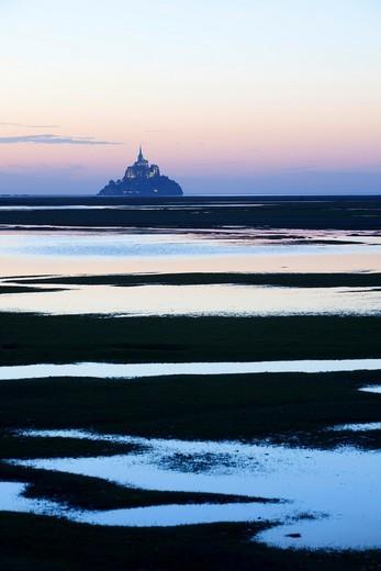 Mont Saint Michel Abbey. Normandy. France : Stock Photo