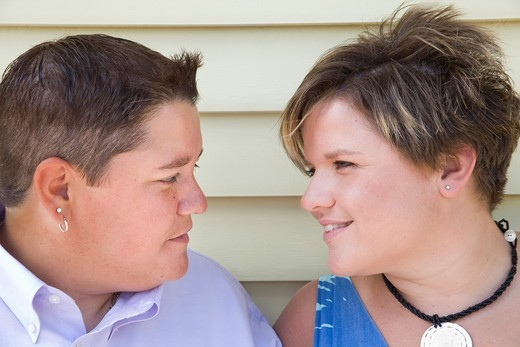 Young gay female couple : Stock Photo