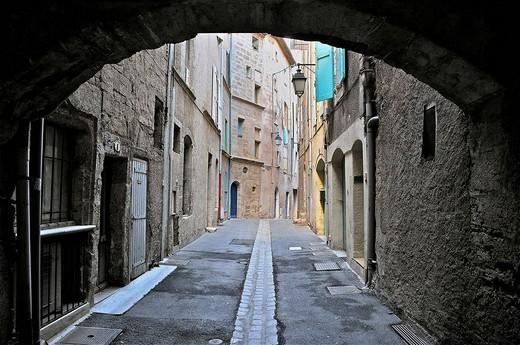 France, Herault, Pezenas, Languedoc Roussillon, le ghetto et le quartier juif : Stock Photo