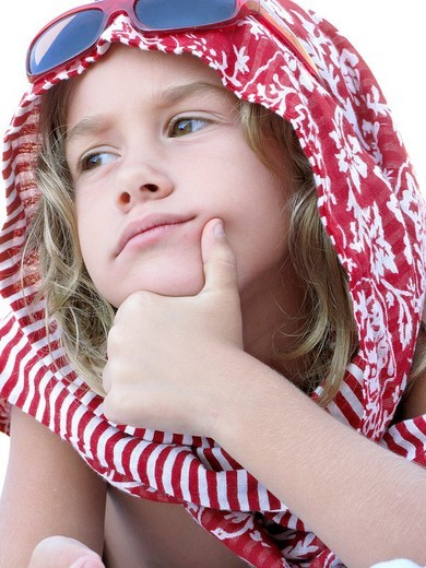 Girl with headscarf : Stock Photo