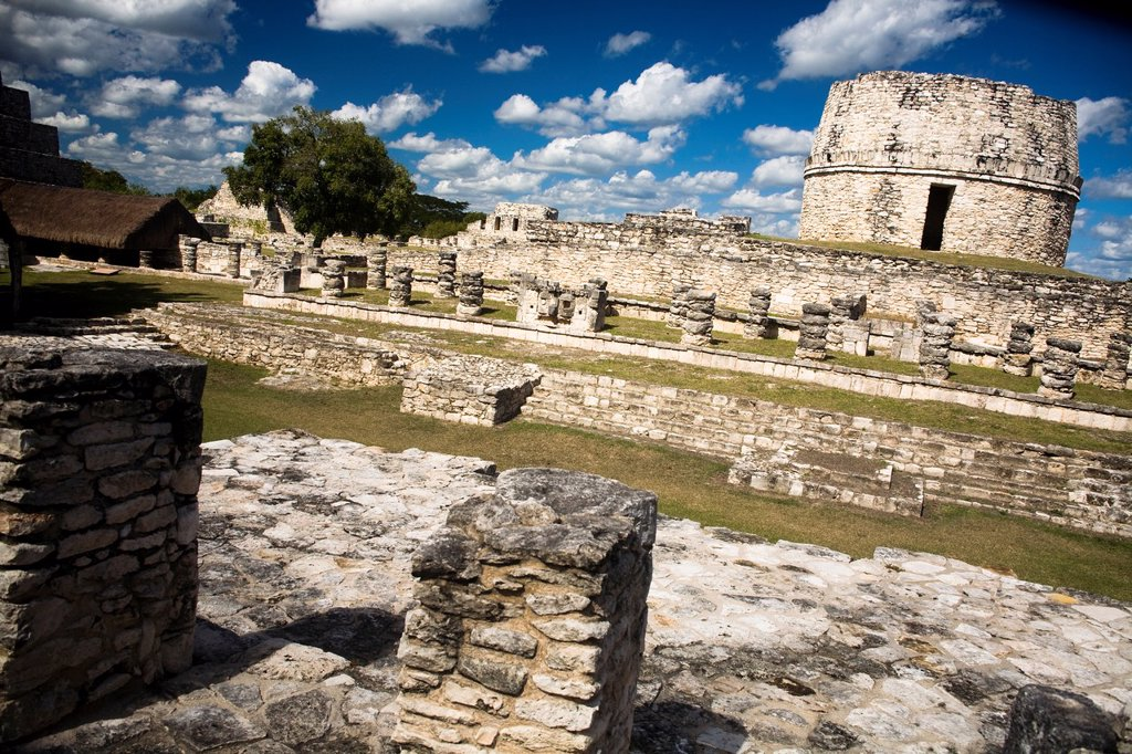 Archaeological site Mayapán, Yucatan, Mexico : Stock Photo