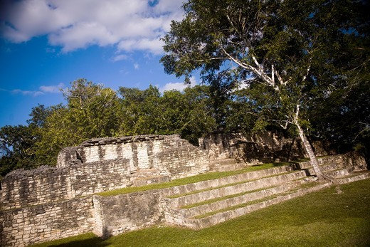 Konhunlic archaeological site, Yucatan, Mexico : Stock Photo