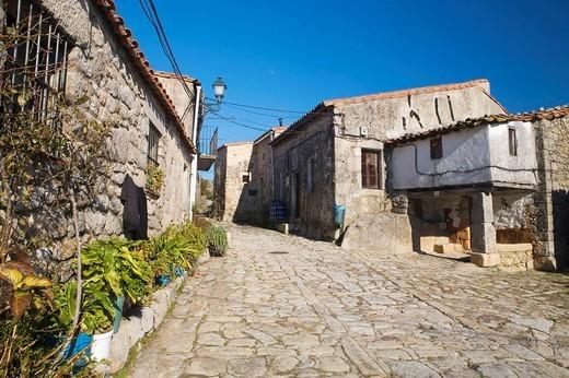 Stock Photo: 1566-623173 Trevejo street  Villamiel  Sierra de Gata  Caceres province  Extremadura  Spain