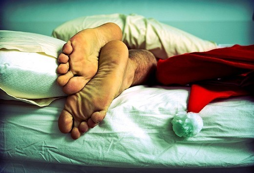 Stock Photo: 1566-623217 Santa Claus sleeping