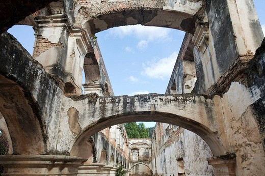 Stock Photo: 1566-623688 Guatemala, Antigua, Santa Clara ruins