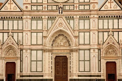 Basilica di Santa Croce in Florence, Tuscany, Italy : Stock Photo