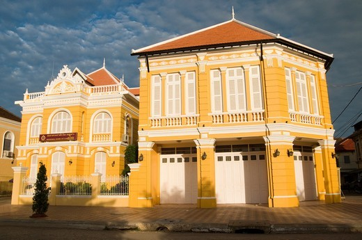 National Bank of Cambodia building, Phlauv 1, Battambang, Cambodia : Stock Photo